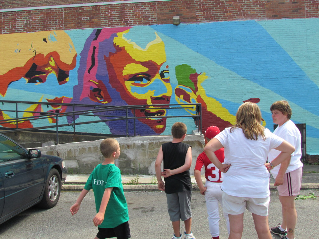 Literacy Mural for the Troy Youth Organization (CYO)'s video poster