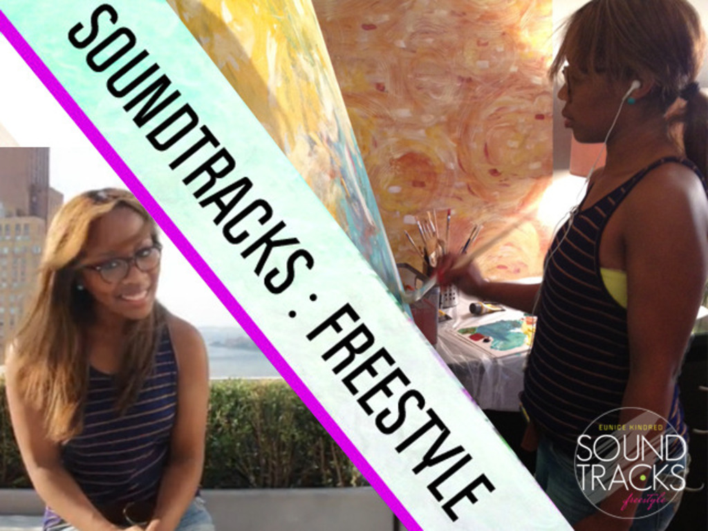 """Eunice Kindred in """"Soundtracks : Freestyle"""" solo show's video poster"""