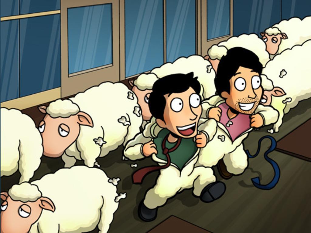 The humorous Entrepreneurship comic book's video poster