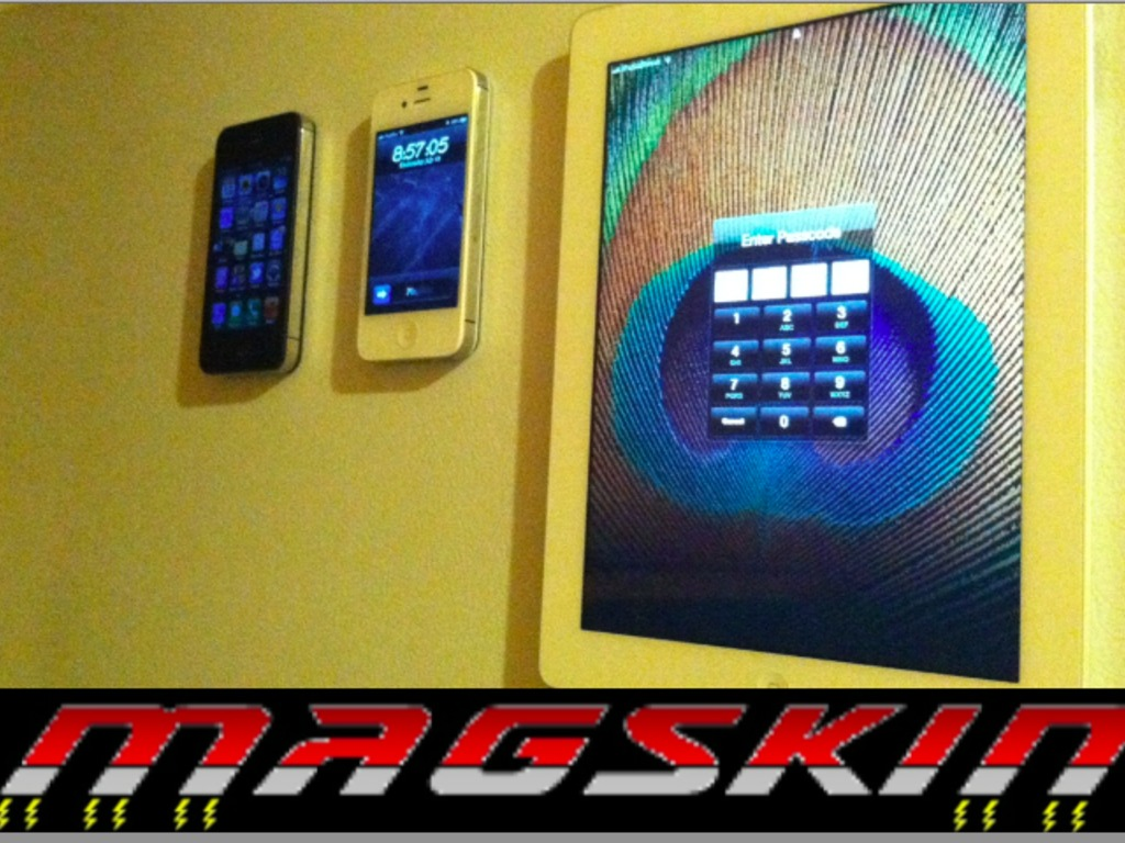 MagSkin: Magnetic skin for iPad, iPhone 4/4S & iPhone 5's video poster