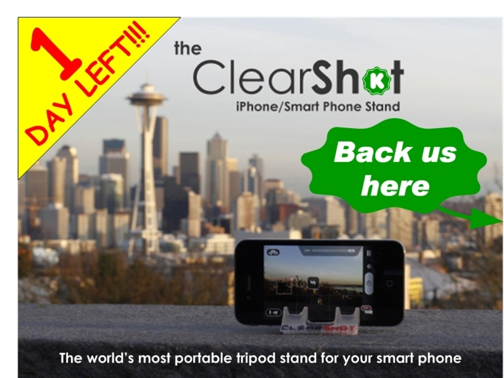 ClearShot-Credit Card Sized Tripod for iPhone Android & More's video poster