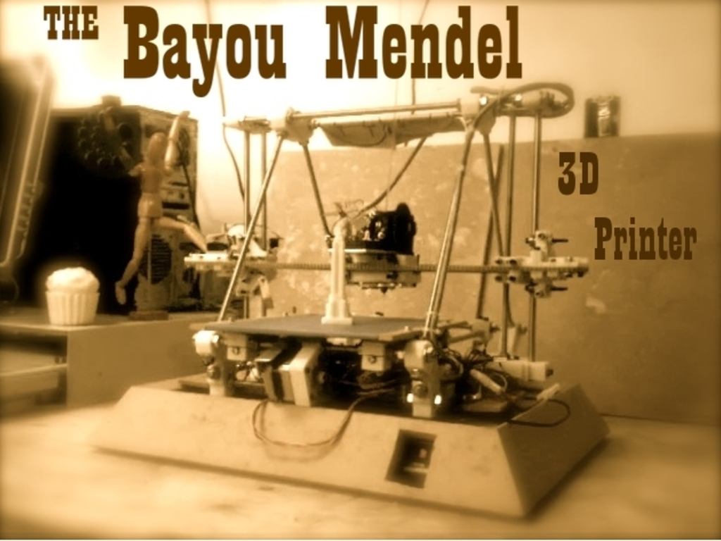 3D Printer - Bayou Mendel RepRap's video poster