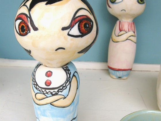Girl Stories - sculptures that tell stories by Lori Leaumont's video poster
