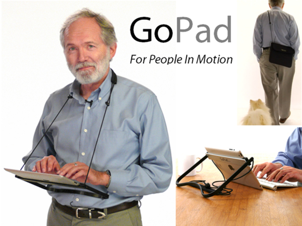 GoPad: the hands-free way to wear and use your iPad's video poster
