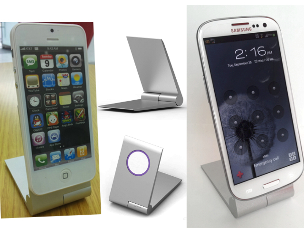 Zyroshell: Aluminum Phone Cradle for iPhone5 and Android!'s video poster
