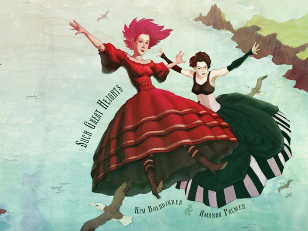 "Kim Boekbinder and Amanda Palmer - ""Such Great Heights""'s video poster"