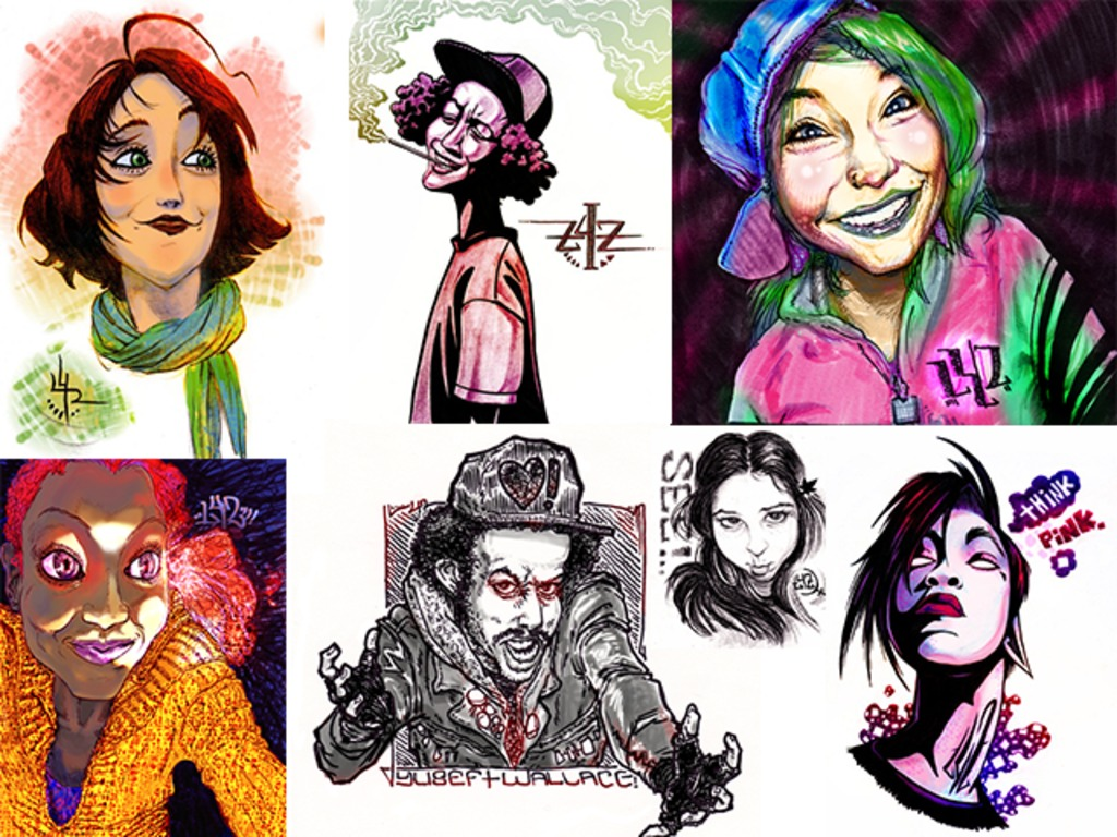 Portraits and Caricatures of YOU by LeafWorthy's video poster