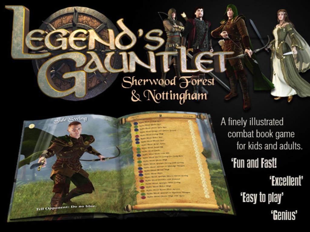 Legend's Gauntlet -  Lost Worlds Fighting Combat Book Game's video poster