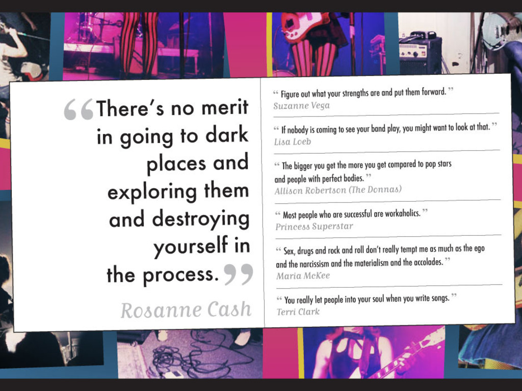 The GRL Talk Book: 231 Quotes from ROCKRGRL Magazine's video poster