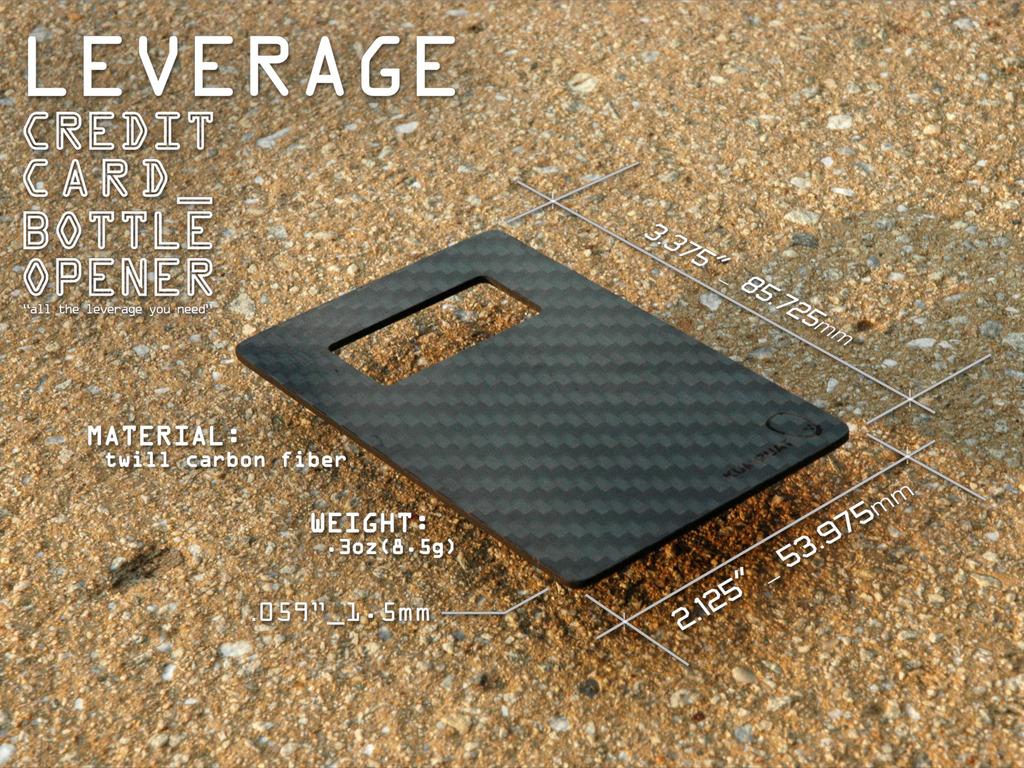Leverage_ The Carbon Fiber Credit Card Sized Bottle Opener's video poster