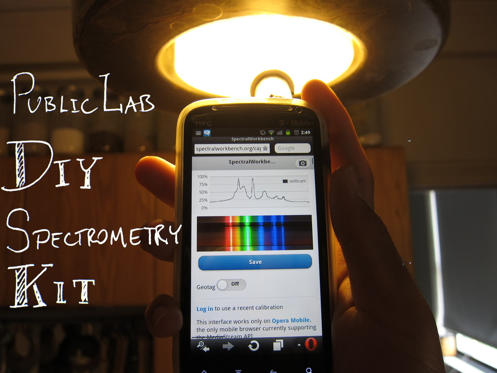 Public Lab DIY Spectrometry Kit's video poster