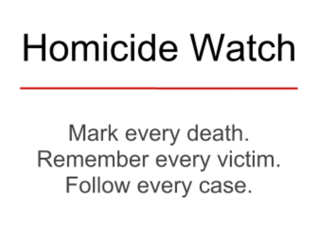 A One Year Student Reporting Lab within Homicide Watch DC's video poster