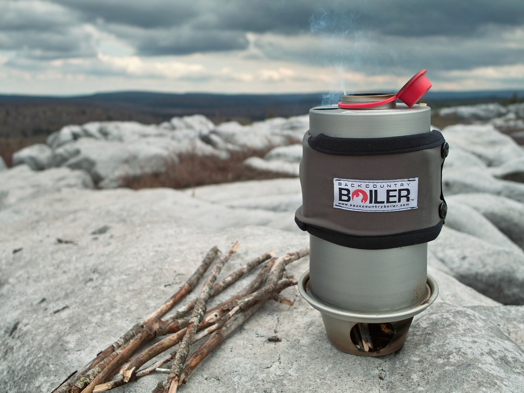Backcountry Boiler: Hot water from found fuel's video poster