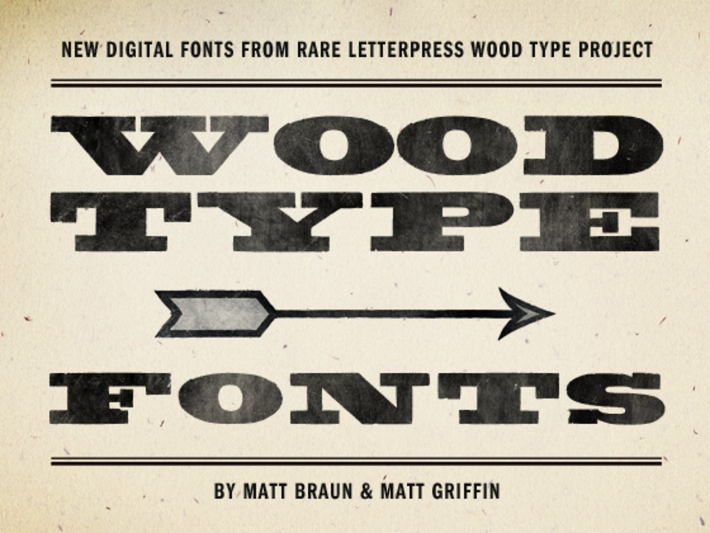 New Digital Fonts from Rare Letterpress Wood Type's video poster