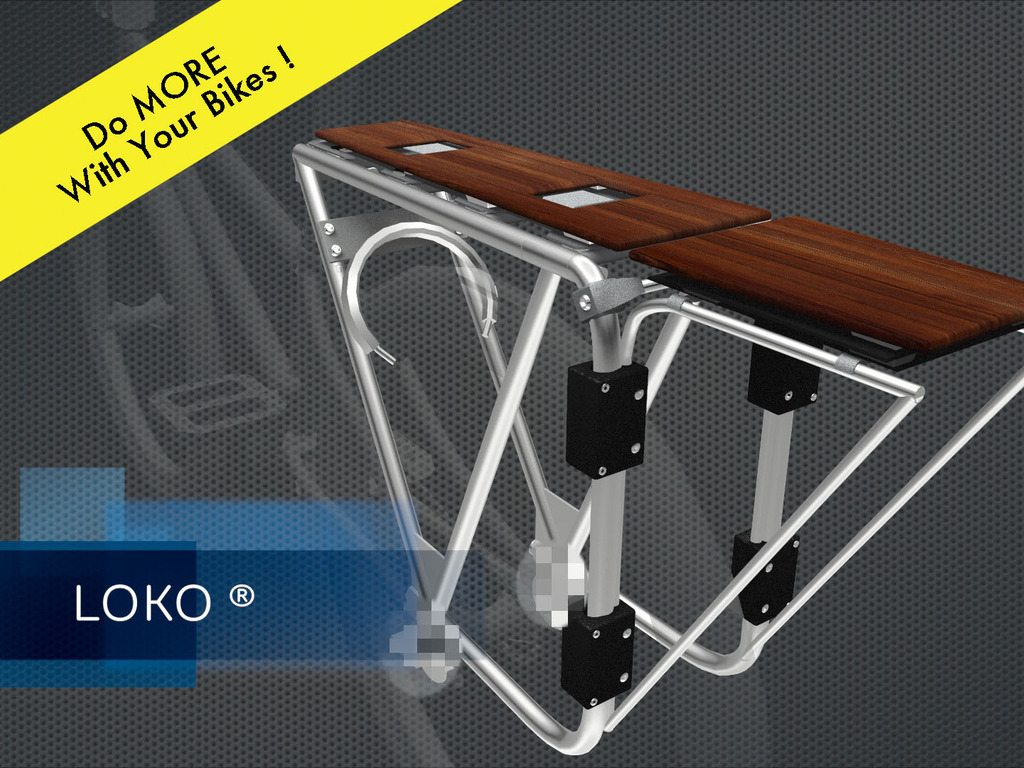 Quick-Release Cargo Bike Rack, Moped or eBike. It's Loko™.'s video poster