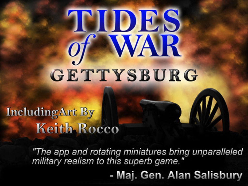 TIDES of WAR: GETTYSBURG board game, app+172 miniatures's video poster