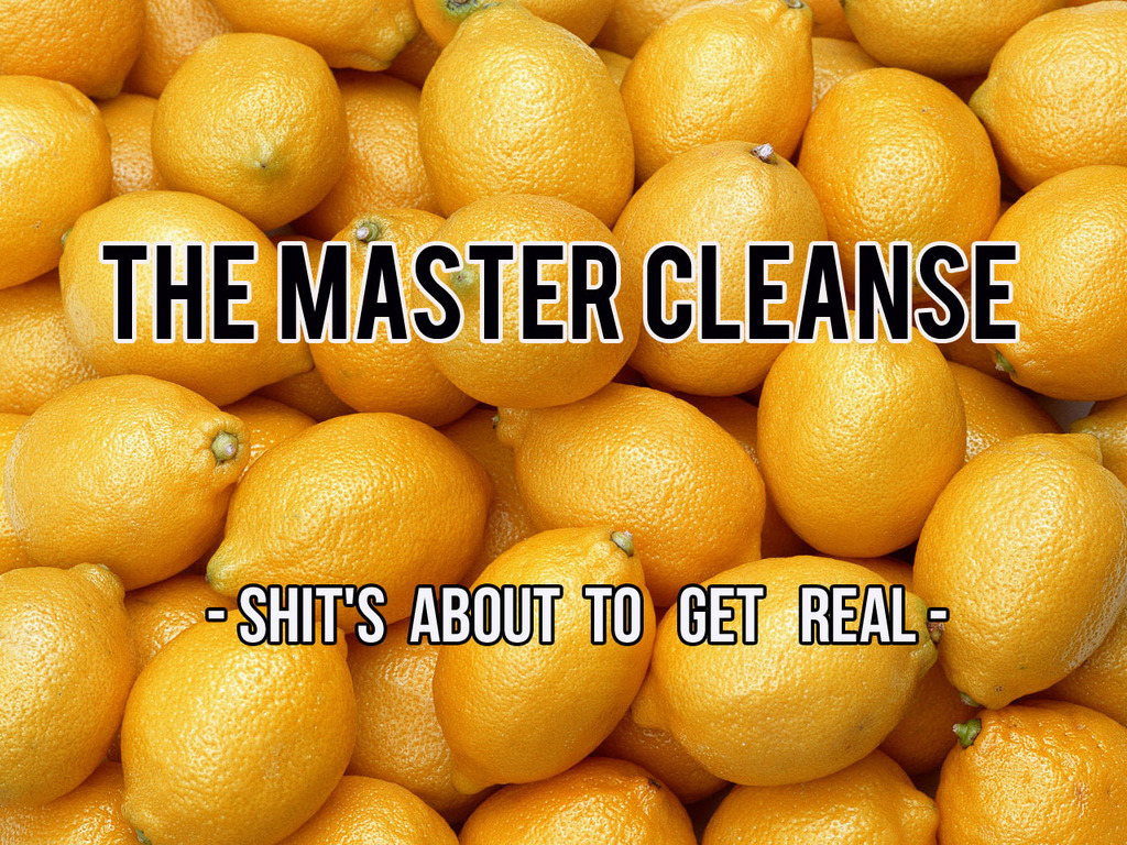 """""""The Master Cleanse"""" - Short Film's video poster"""