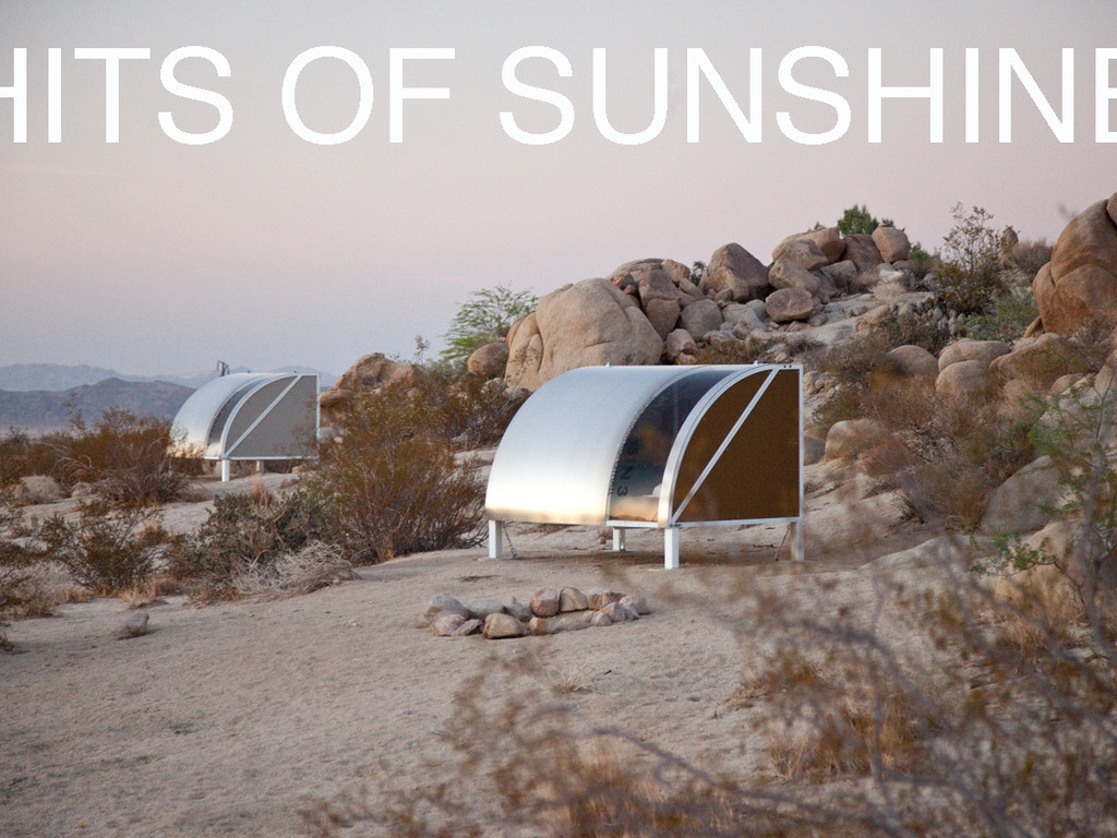 HITS OF SUNSHINE: sound + design + performance in the desert's video poster