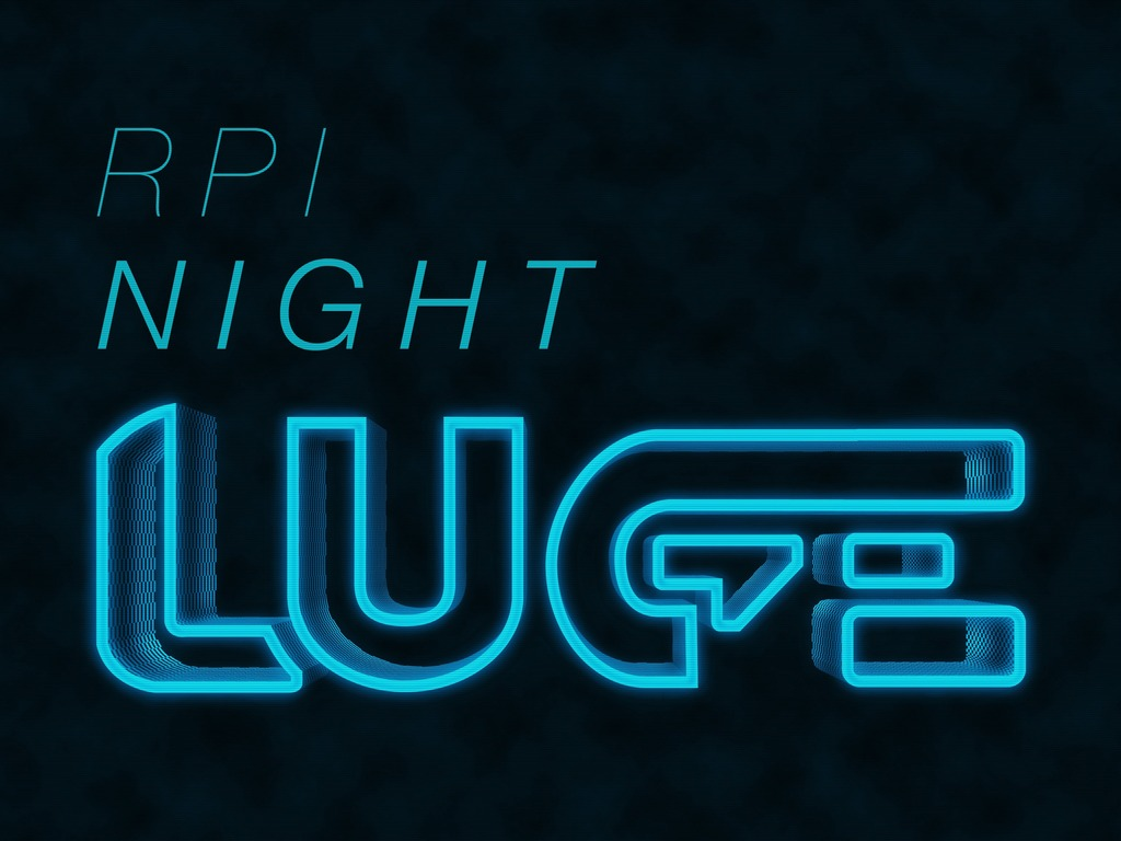 RPI Night Luge's video poster