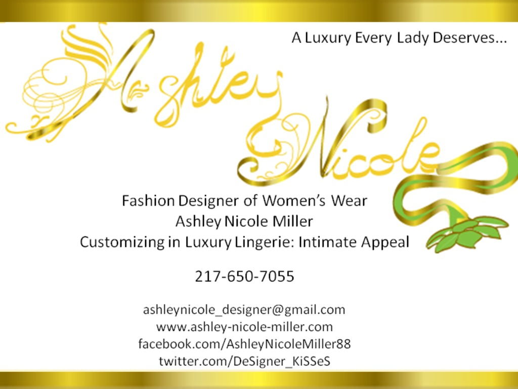 AshleyNicole: Customizing in Hand Made Luxury Lingerie's video poster