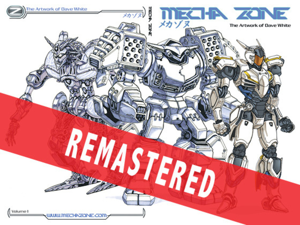 MECHA ZONE robot art book stomping your way!'s video poster