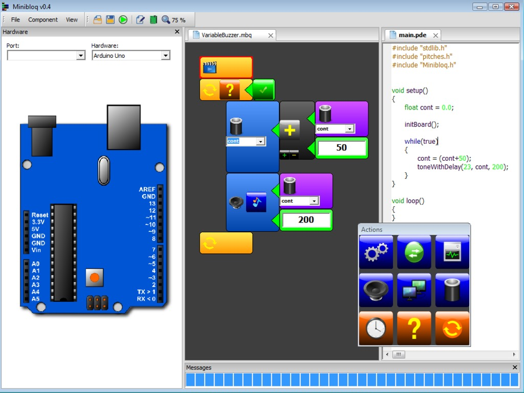 Minibloq: graphical programming environment for Arduino's video poster