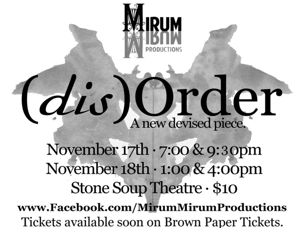 Mirum Mirum Productions Presents: (dis)Order's video poster