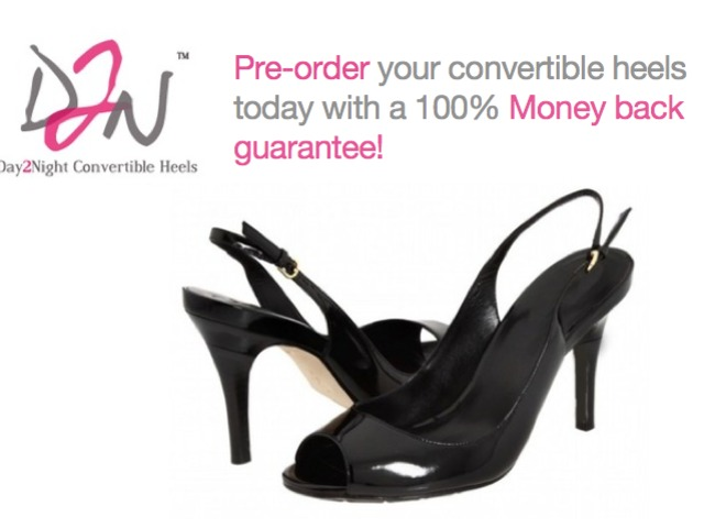 day2night convertible high heel shoes by candice cabe