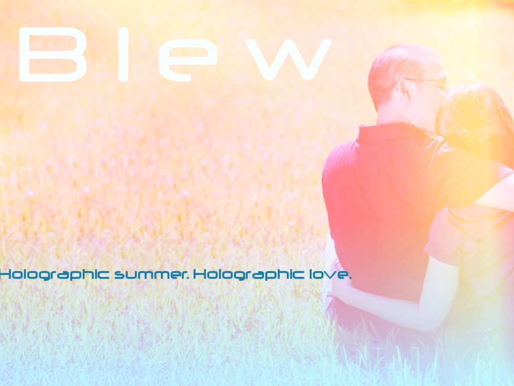Blew's video poster