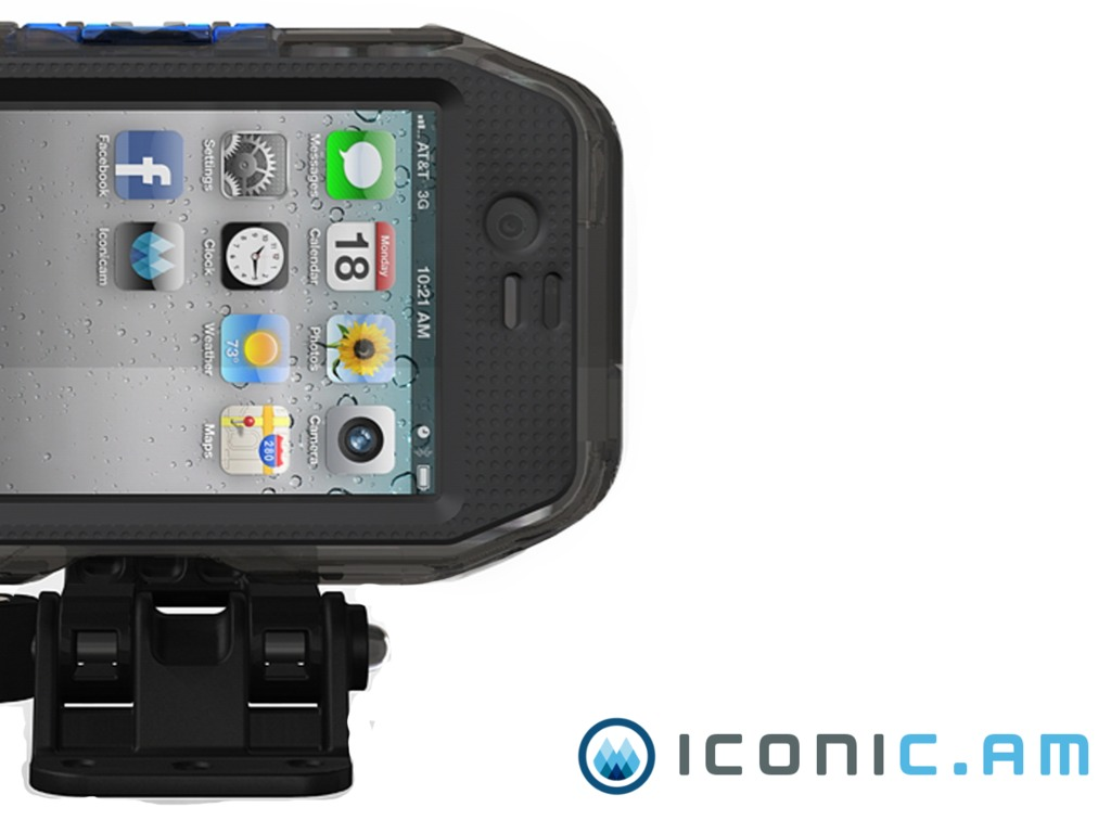 iconic.am: waterproof mountable case for iPhone 4/4s/5's video poster