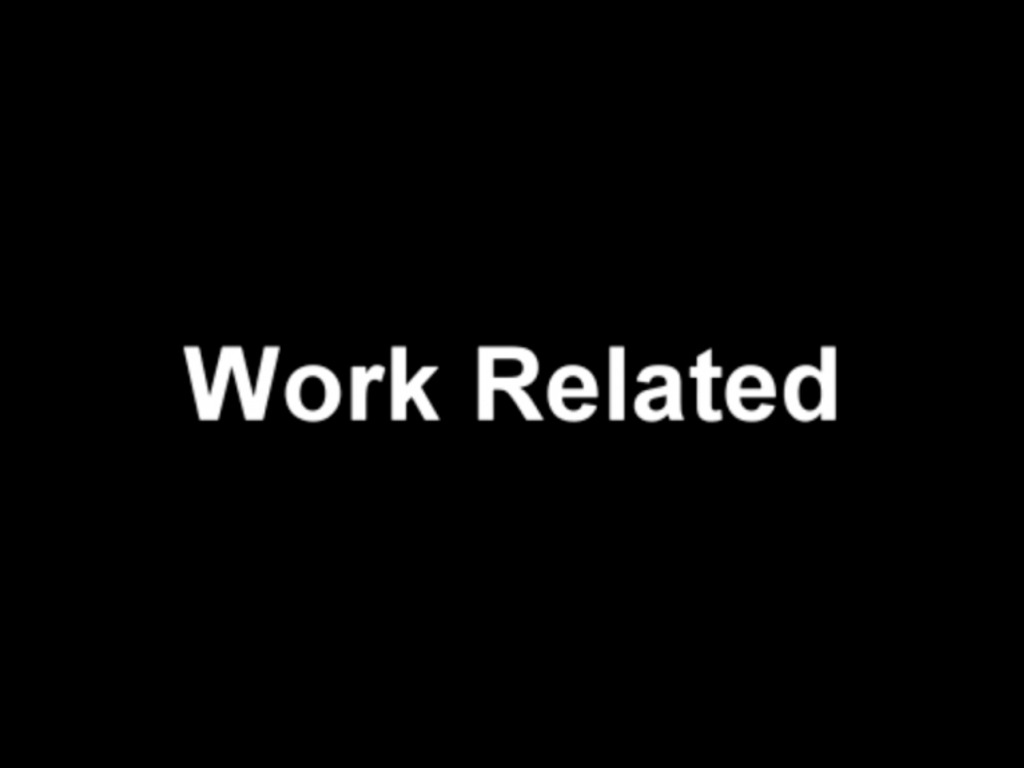 Work Related's video poster