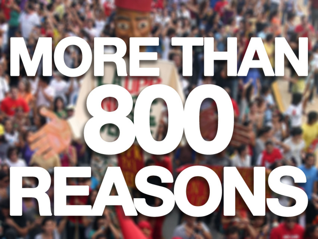 More than 800 reasons to get involved's video poster