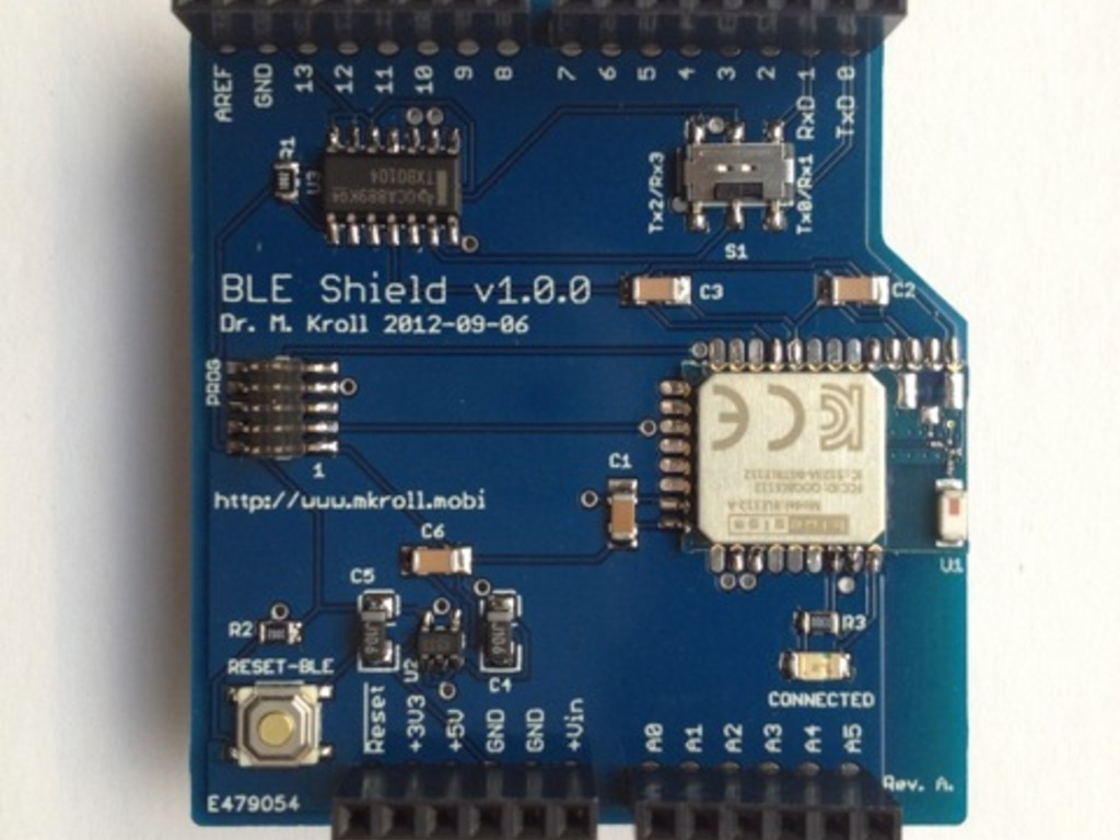 Arduino BLE Shield: Connecting the iOS and the Arduino World's video poster