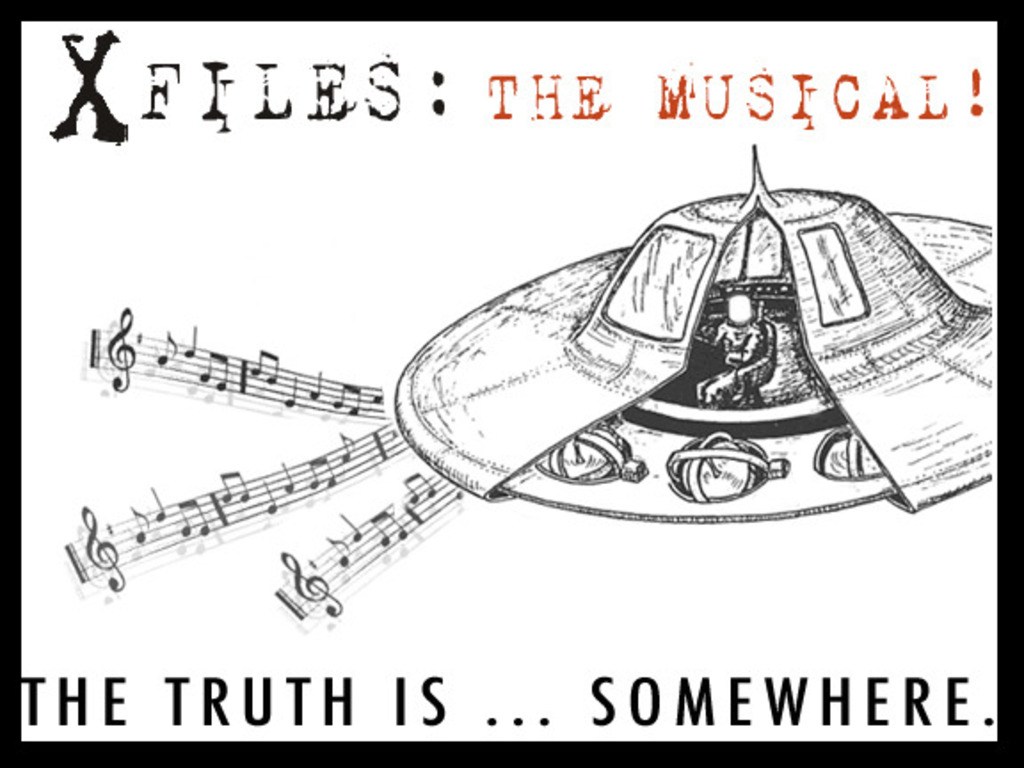 X FILES: THE MUSICAL presented by The Colonel Mustard's video poster