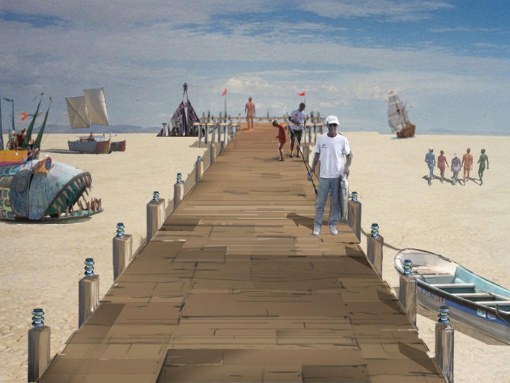 The Pier - Burning Man 2011 Art Installation's video poster