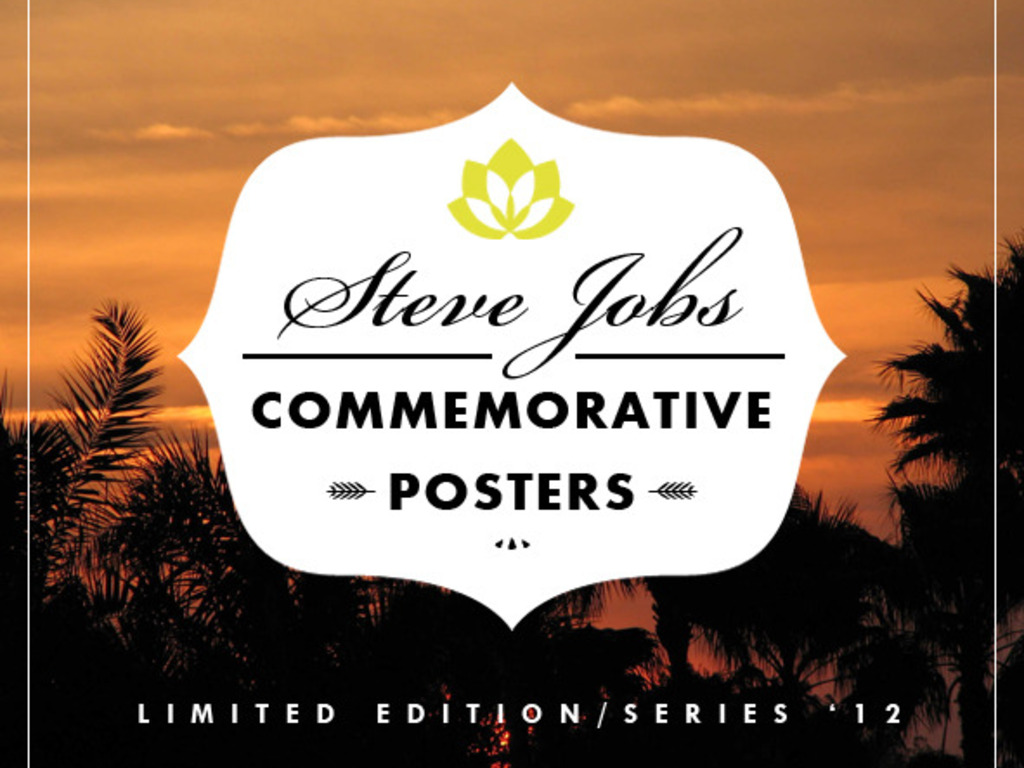 Steve Jobs Commemorative Posters's video poster