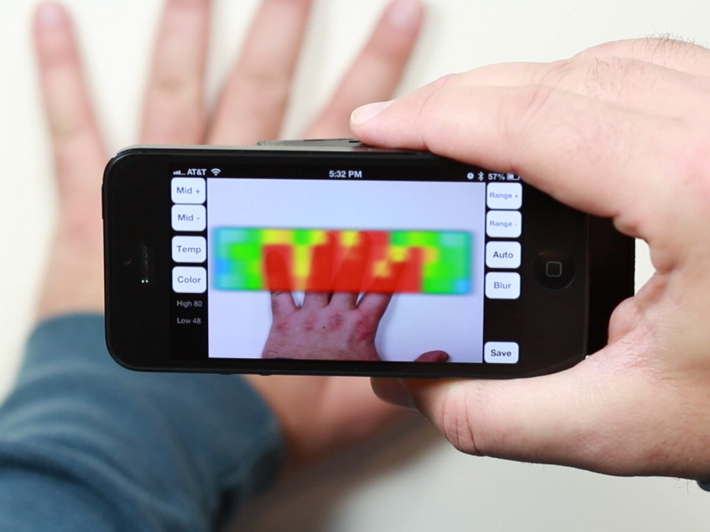IR-Blue - Thermal Imaging Smartphone Accessory's video poster