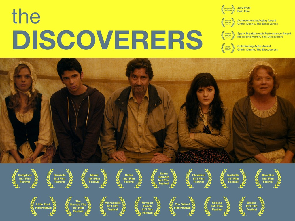 THE DISCOVERERS (starring Griffin Dunne) Theatrical Release's video poster