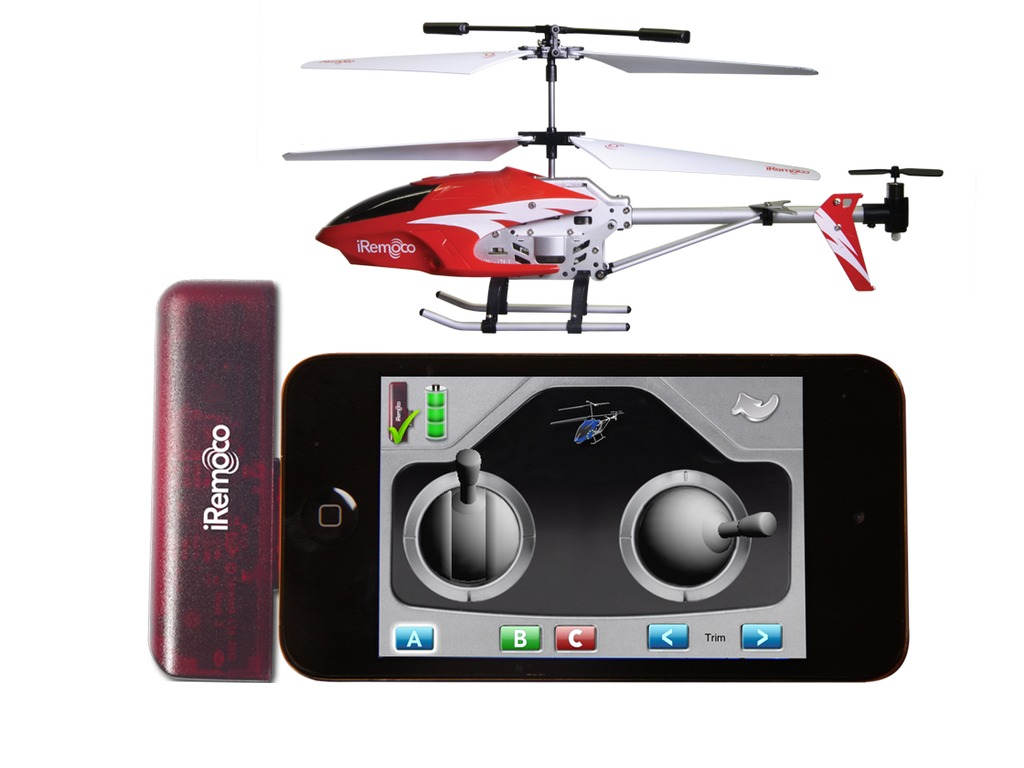 iRemoco - remote control helicopter for iPhone, iPod & iPad's video poster