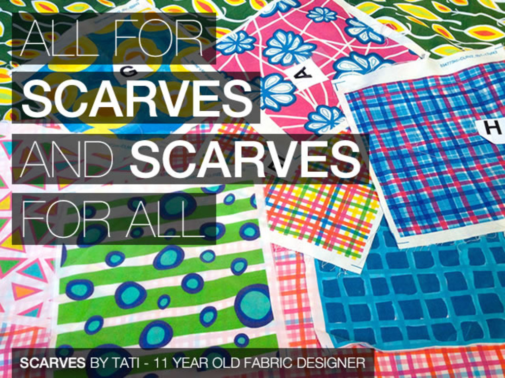 Scarves by Tati, 11-yr-old Fabric Designer's video poster