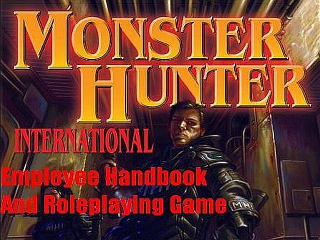 The Monster Hunter International Employee's Handbook and RPG's video poster