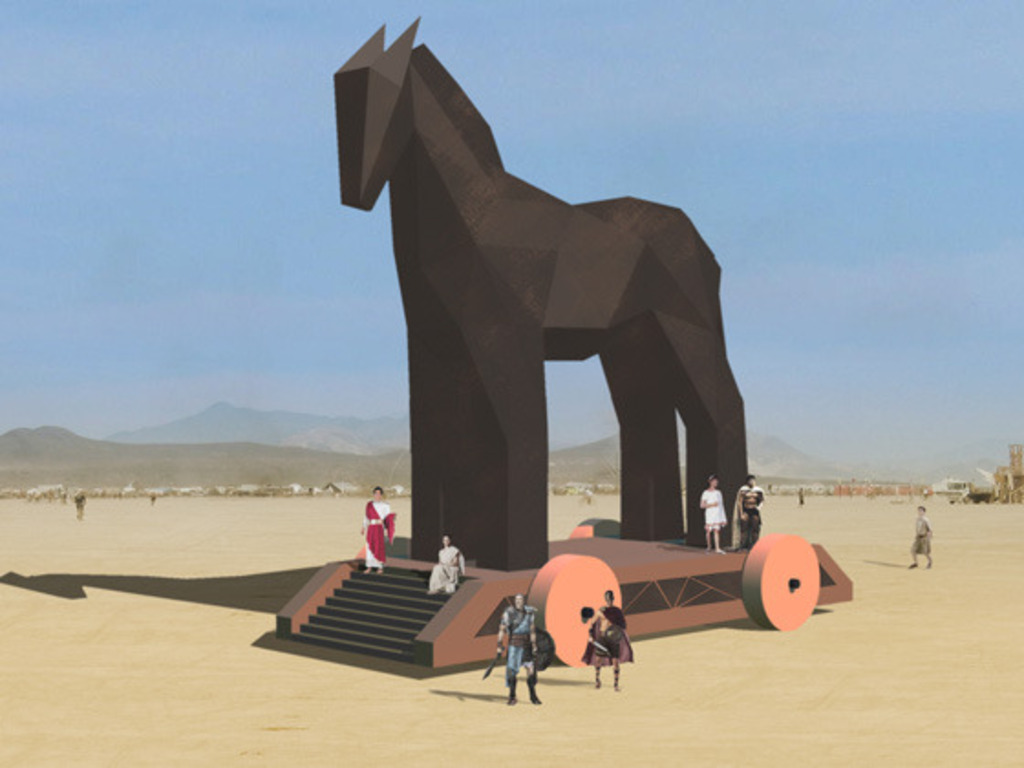 The Trojan Horse Project - Burning Man 2011's video poster
