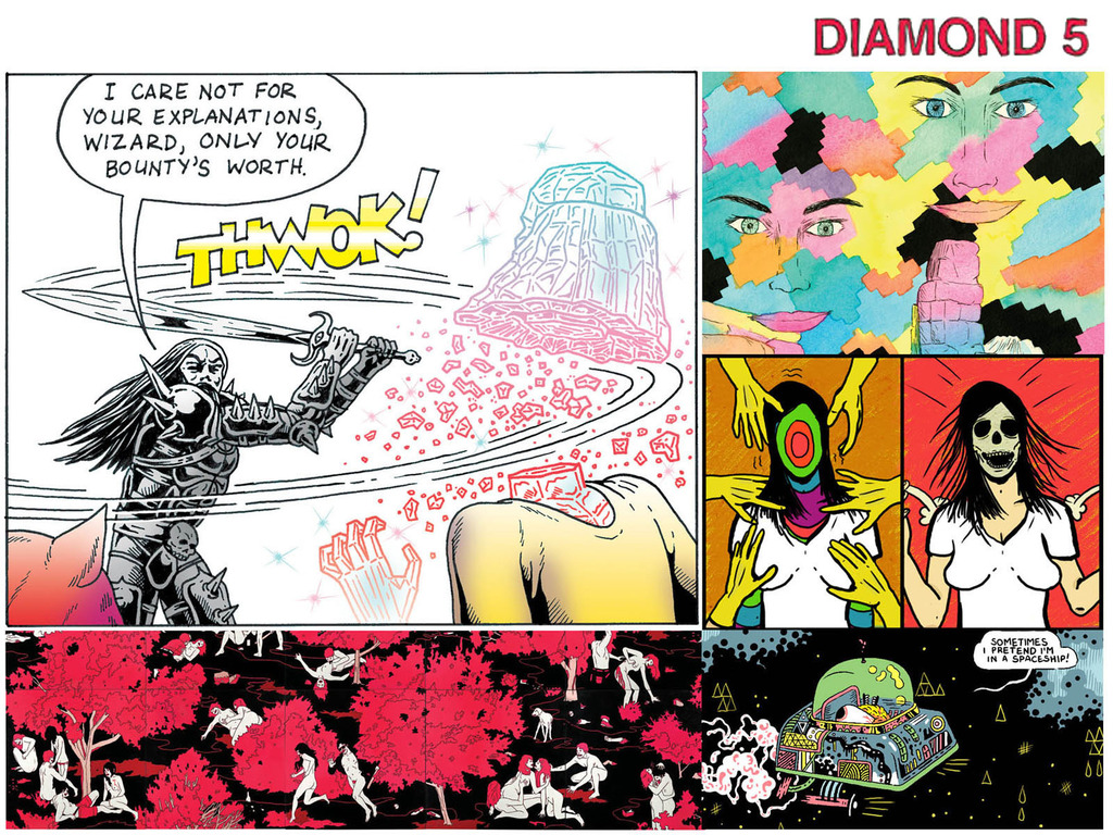 DIAMOND COMICS #5 - Free comics newspaper of experimental & psychedelic art's video poster