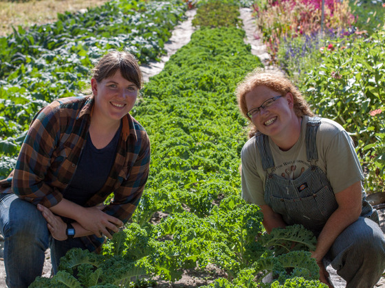 Nina Booth and Laura Sackton of First Root Farm