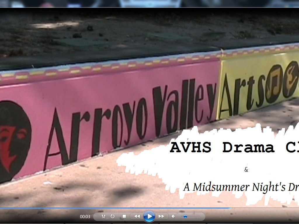 AVHS Drama Club & A Midsummer Night's Dream's video poster