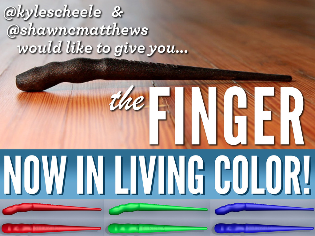 The Finger: An Accidentally-Awesome Dual-Grip Stylus's video poster
