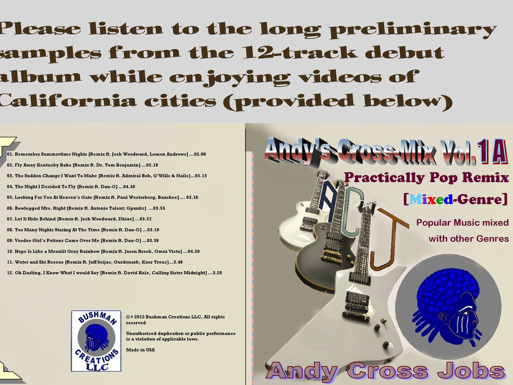 Andy's Cross-Mix Vol. 1A - Practically Pop Remix [debut CD]'s video poster