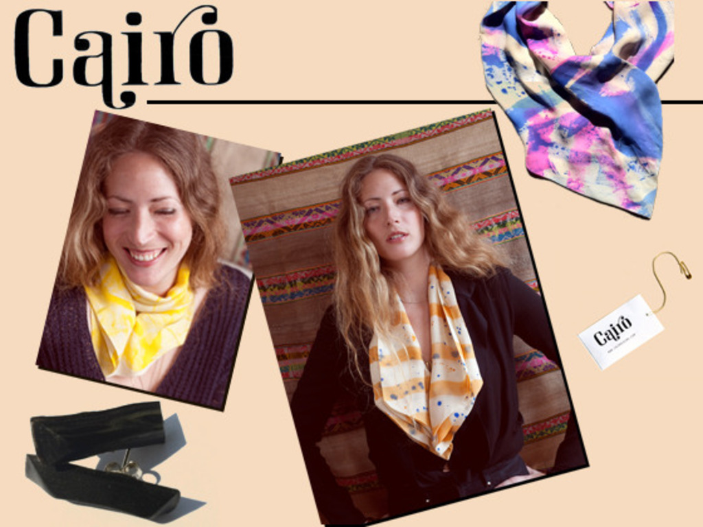 Cairo: 100% silk scarves with a magnetic closure's video poster