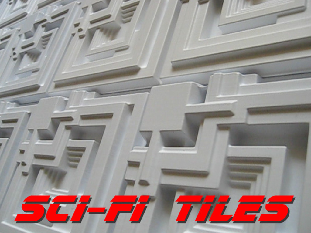 Sci-Fi Tiles: Blade Runner & Star Wars plastic decor tiles's video poster