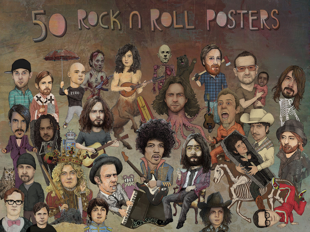50 ROCK N ROLL POSTERS: Phase 1's video poster